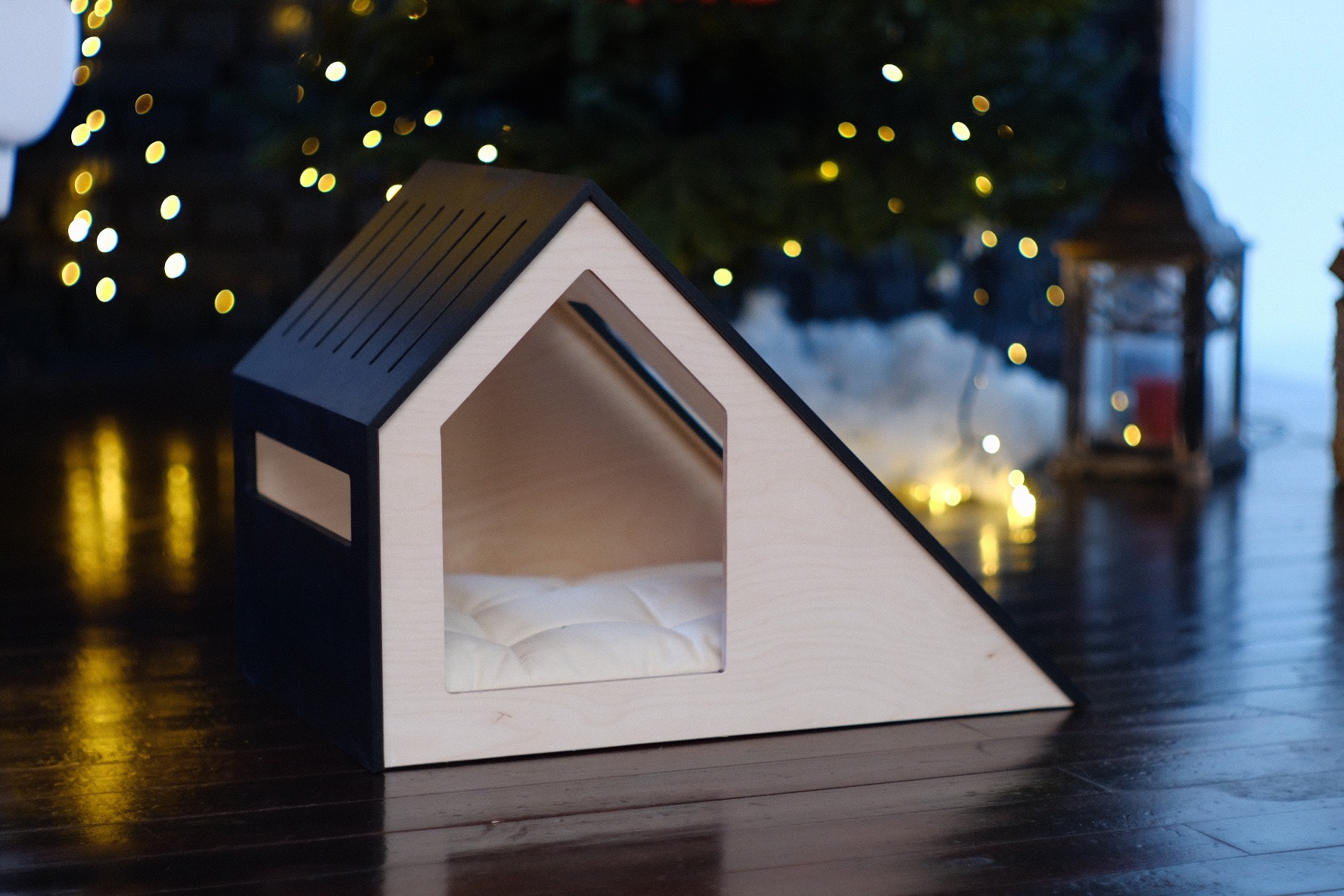Stylish cat and dog house
